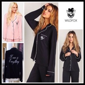 """WILDFOX """"LOVE IS EVERYTHING"""" BUTTON DOWN SHIRT"""
